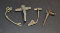 A very cheap group of  4 assorted Roman bronze Fibula Brooches from Derbyshire. SOLD